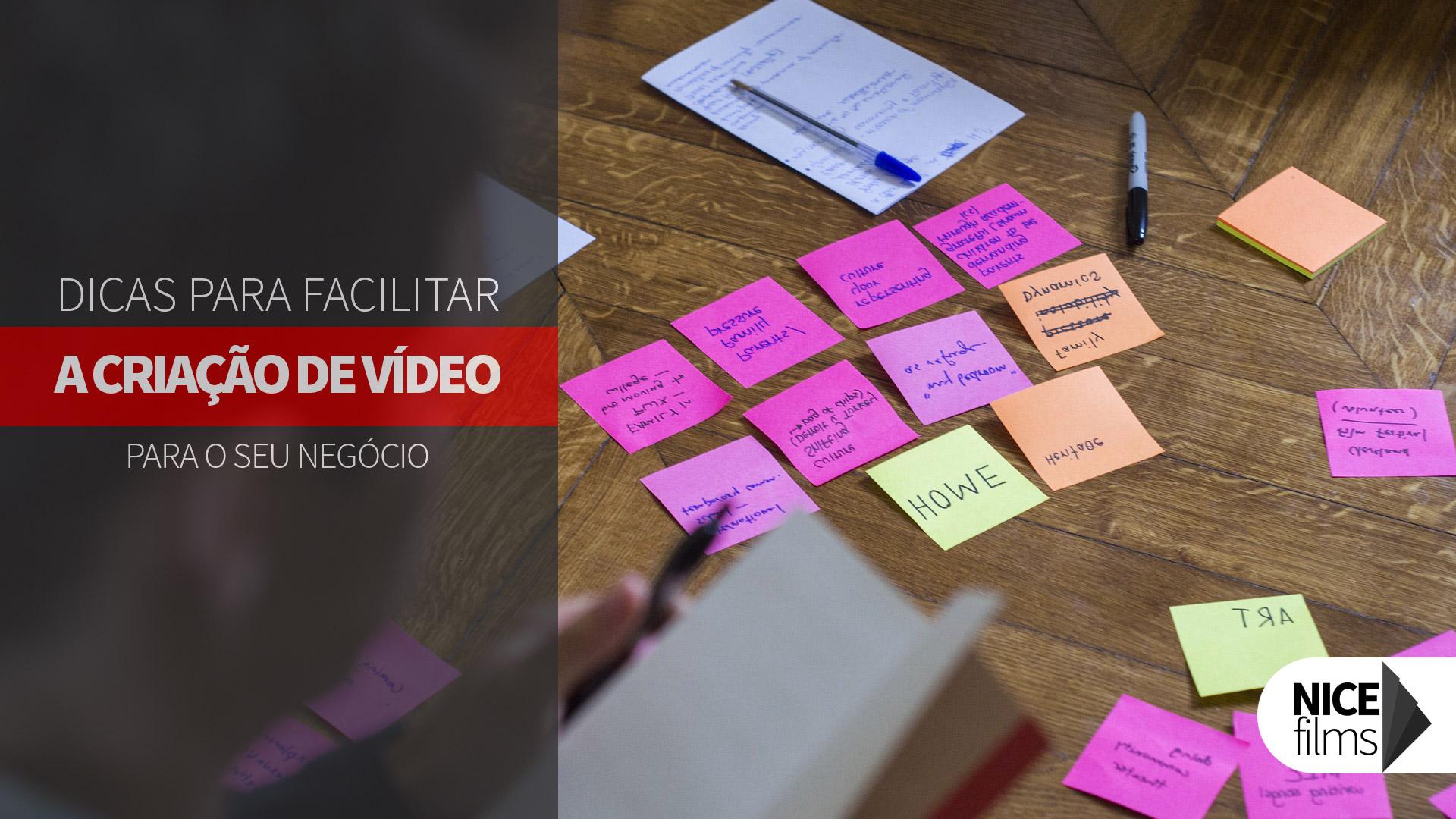 Dicas de criação para seu vídeo